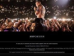 #RipChester, l'omaggio sul sito dei Linkin Park