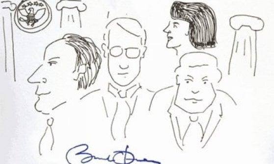 All'asta disegno di Trump: scarabocchi e dipinti dei presidenti americani