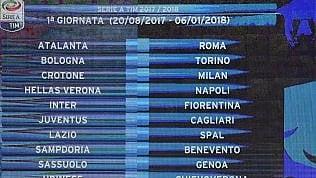 La nuova serie Aecco il calendario · Prima: Juve-CagliariVerona-Napolie Inter-FiorentinaSeconda: Roma-Inter