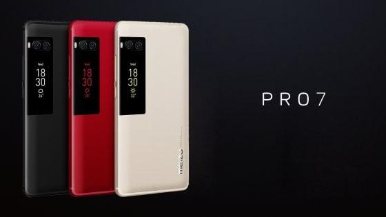 Pro 7 e Pro 7 Plus, lo smartphone della cinese Meizu con display sul retro
