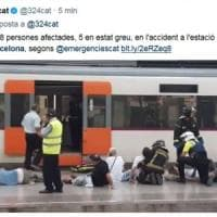 Barcellona, incidente ferroviario in stazione: 48 feriti