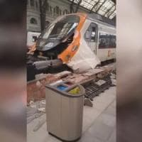 Barcellona, incidente ferroviario in stazione: 48 feriti