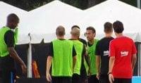 Nervi tesi Neymar, lite in allenamento con Semedo