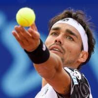Tennis, primo trofeo da papà per Fognini: successo a Gstaad