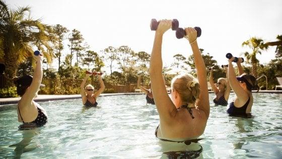 Giochi d'acqua per tornare in forma