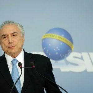 Brasile, la Camera dei deputati blocca il processo al presidente Temer