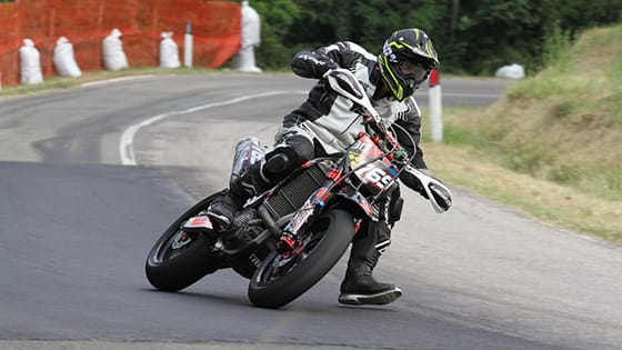 Andrea Majola, new talent nella Supermoto