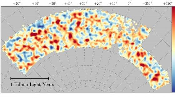 Il lato oscuro dell'universo in una mappa