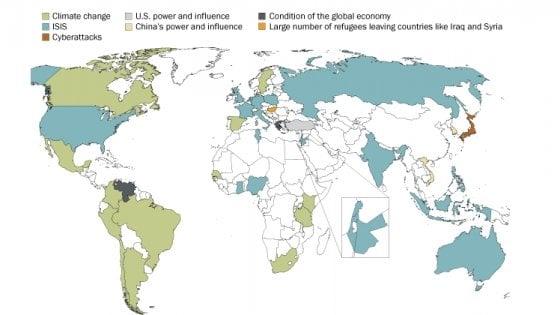 Di cosa ha paura il mondo? Dall'Isis ai cyberattacchi, le minacce Paese per Paese