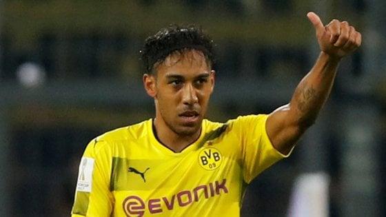 Aubameyang chiude al Milan: ''Resto al Borussia Dortmund''