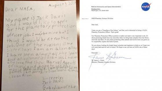 """La candidatura di Jack, 9 anni: """"Sarò guardiano della galassia"""". E la Nasa gli risponde"""