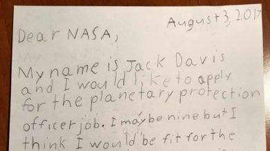 La Nasa: ''Cercasi guardiano della galassia''. E Jack, 9 anni, si candida: ''Sono perfetto''