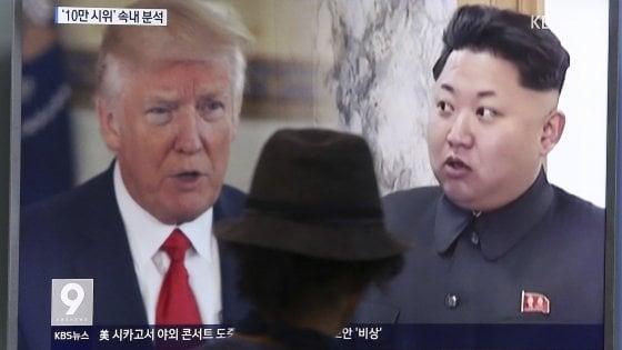 "Pyongyang: ""Cancelleremo gli Usa"". Trump: ""Corea del Nord non sa cosa sta rischiando"""