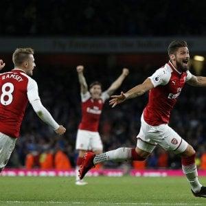Inghilterra, inizio show per la Premier League: Arsenal batte Leicester 4-3