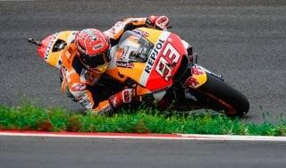 """Moto Gp, Austria: Marquez in pole davanti alle Ducati. Rossi settimo: """"Accidenti alle gomme"""""""