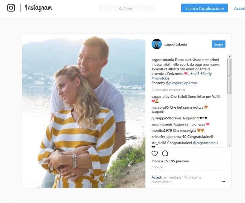 """Cicogna in arrivo per Tania Cagnotto: """"Ci attende una nuova avventura"""". L'annuncio su Instagram"""