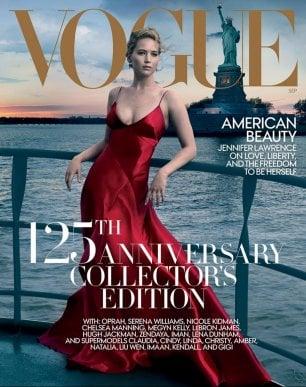 Polemica per Jennifer Lawrence e Statua della Libertà su copertina di Vogue