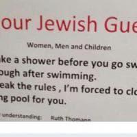 """""""Gli ebrei devono farsi la doccia prima di entrare in piscina"""": Israele chiede le scuse..."""