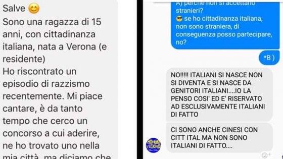 "Verona: 15enne italiana di origini africane, fuori da gara canora. ""E' solo per italiani veri"""