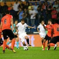 Champions League, Playoff: il Siviglia vede i gironi. L'Olympiakos a fatica col Rijeka