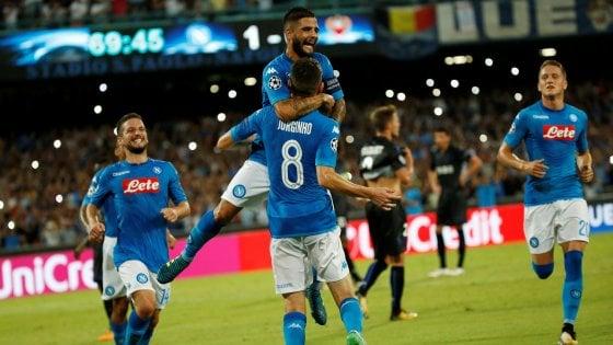 Napoli-Nizza 2-0, gli azzurri ipotecano l'accesso ai gironi