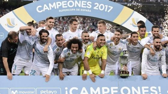 Real Madrid, un altro trofeo per Zidane: ecco la 'Supercopa', Barcellona sconfitto