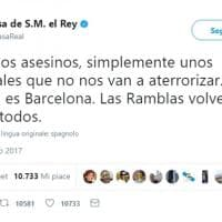 Attacco a Barcellona, il cordoglio su Twitter