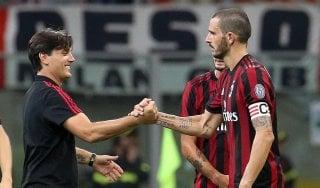 """Milan, Montella: """"Ottimo approccio, bravi a evidenziare il divario tecnico"""""""