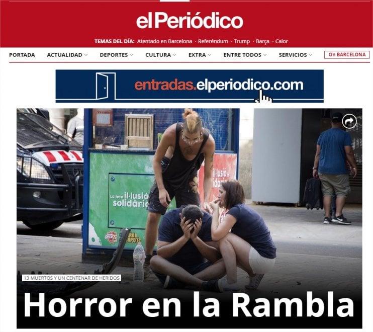 Attentato a Barcellona, furgone sulla folla: la notizia sui siti stranieri