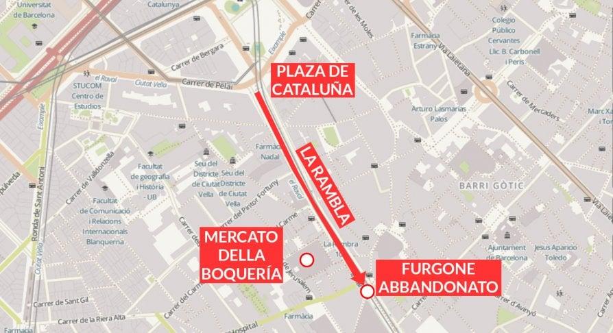 Attacco terroristico a Barcellona: la ricostruzione dell'attentato