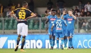 Verona-Napoli 1-3, gli azzurri rispondono subito alla Juve