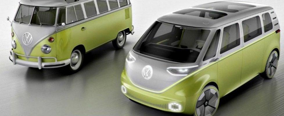 """Volkswagen, torna il mitico pulmino dei """"figli dei fiori"""". E stavolta sarà tutto elettrico"""