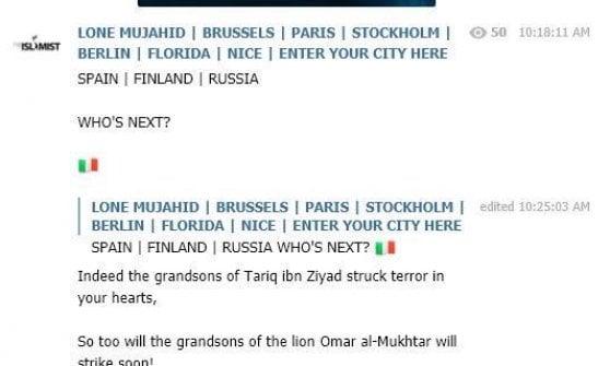 Isis, ecco la chat che minaccia l'Italia