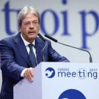 Gentiloni al meeting Cl: