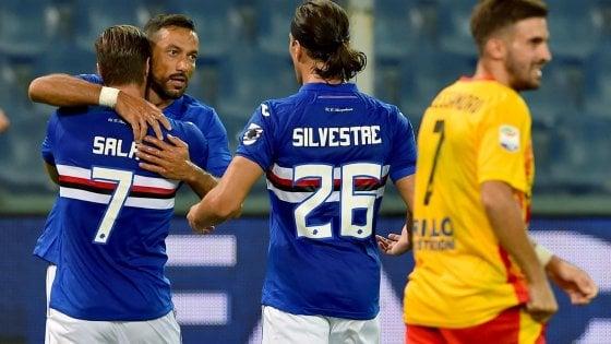 Sampdoria-Benevento 2-1: Ciciretti illude i campani, Quagliarella si prende i tre punti