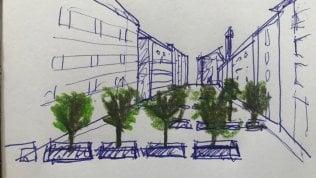 Difendersi dal terrore col 'verde':ecco come l'architetto Boeriimmagina gli alberi anti-tir foto