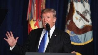 """Afghanistan, marcia indietro di Trump. """"Più uomini, resteremo fino alla vittoria finale"""" video"""