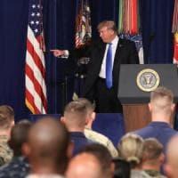 """Afghanistan, marcia indietro di Trump. """"Più uomini fino alla vittoria finale"""""""