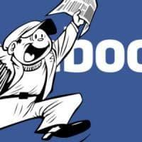 Facebook, i loghi degli editori nelle sezioni