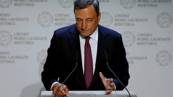 """Draghi non scopre le carte in vista di Jackson Hole ma difende le politiche Bce: """"Un successo"""""""