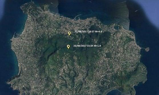 Il terremoto di Ischia ha fatto sprofondare il terreno di 4 centimetri