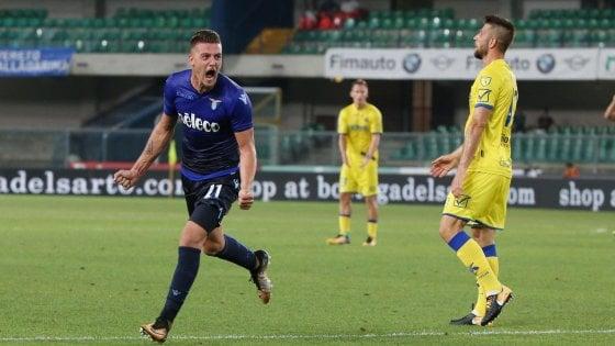 Chievo-Lazio 1-2, Milinkovic-Savic piega i gialloblù
