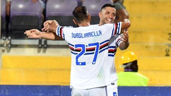 Fiorentina-Sampdoria 1-2: Caprari e Quagliarella mandano al tappeto i viola