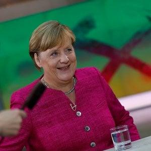 """Angela Merkel: """"L'Italia e la Grecia non saranno più lasciate sole. Il sistema Dublino è superato"""""""