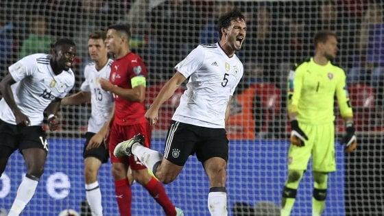 Qualificazioni Mondiali: la Germania vince in Repubblica Ceca, poker dell'Inghilterra a Malta