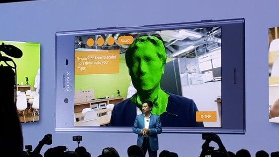 Ifa 2017, come uno scanner 3D:  col Sony Xperia XZ1 diventi un avatar