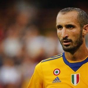 Juventus, per Chiellini trauma al polpaccio: ''Barcellona? Spero di farcela''