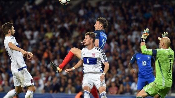Qualificazioni Mondiali: incredibile Francia, 0-0 col Lussemburgo. Belgio vince in Grecia e si qualifica