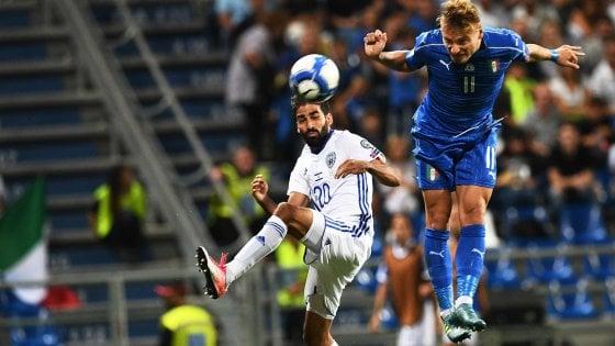 Qualificazioni Mondiali, Italia-Israele 1-0: gli azzurri soffrono, ci pensa Immobile