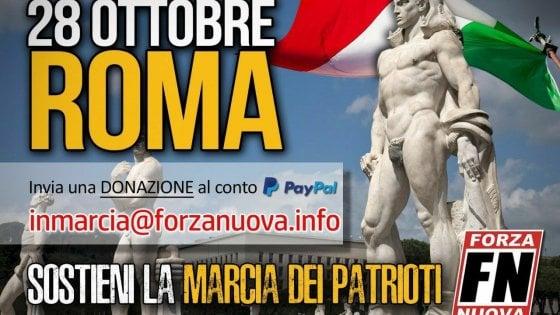 """La marcia su Roma di Forza Nuova: """"patrioti"""" convocati il 28 ottobre"""